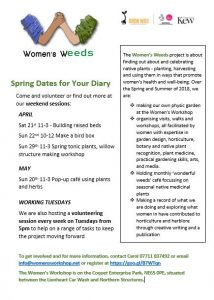 Women's Weeds Apr-May flier